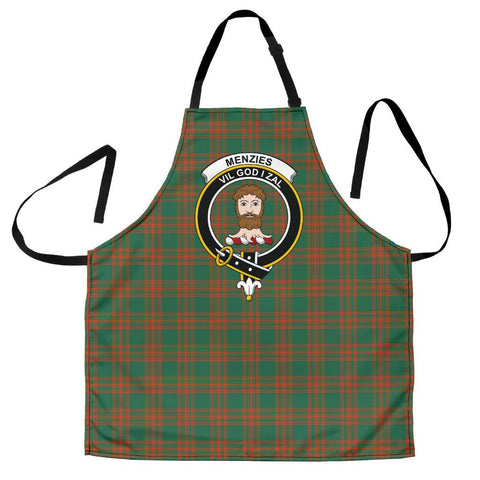 Image of Menzies Green Ancient Tartan Clan Crest Apron