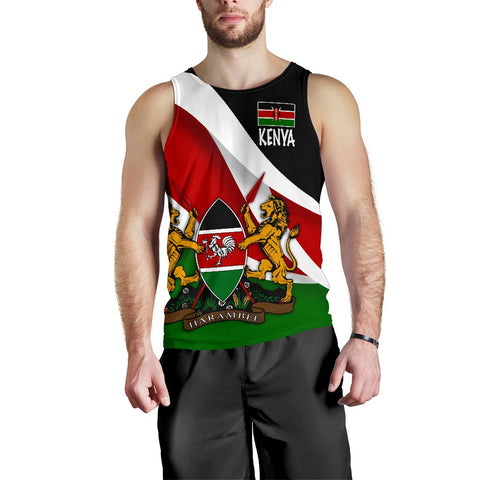 Image of Kenya Impressive Flag Men's Tank Top A15
