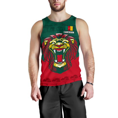 Image of Cameroon Men Tank Top Lion K4