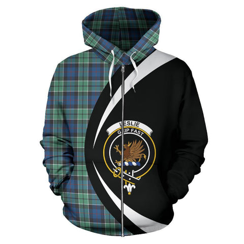 Leslie Hunting Ancient Tartan Circle Zip Hoodie