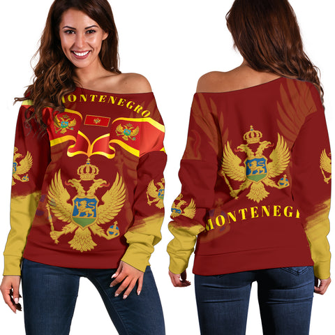 Montenegro Style Women Off Shoulder Sweater 1