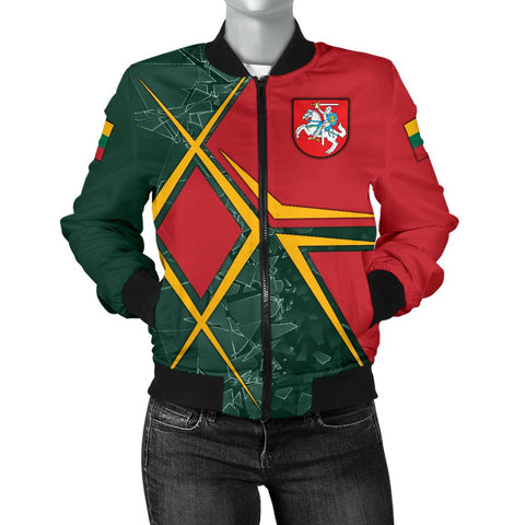 Image of Lithuania Women's Bomber Jacket - Lithuania Legend