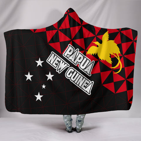 Image of Papua New Guinea Polynesian Hooded Blanket Coat Of Arms