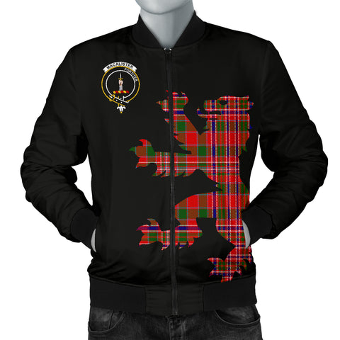 MacAlister Tartan Lion And Thistle Bomber Jacket for Men