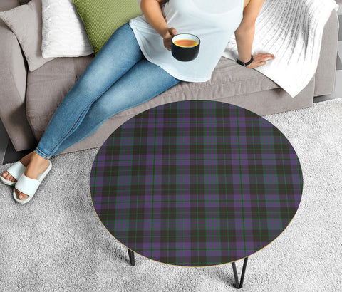 Clergy Green Tartan Circular Coffee Table - BN
