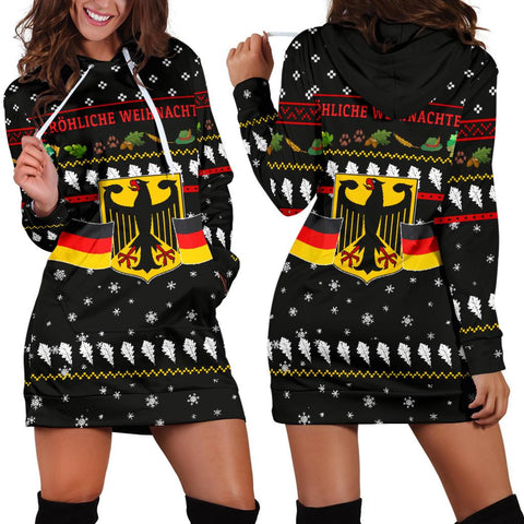 Image of Germany Christmas Hoodie Dress