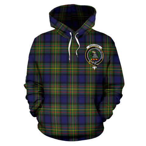 Image of Maclaren Tartan Clan Badge Hoodie HJ4