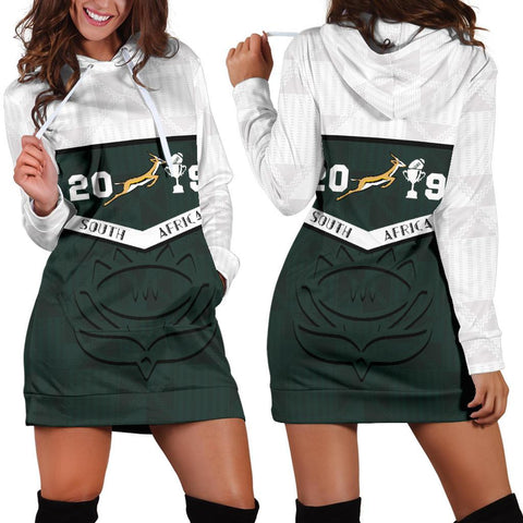 South Africa Springbok Champion 2019 Hoodie Dress
