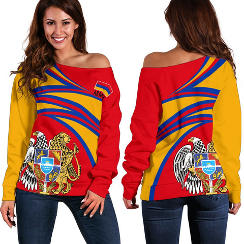Image of Armenia Off Shoulder Sweater A15