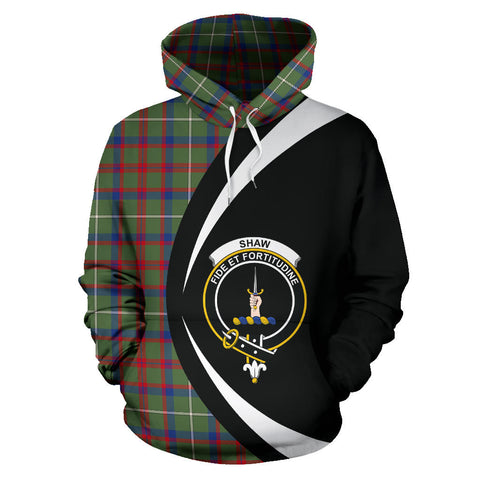 Image of (Custom your text) Shaw Green Modern Tartan Circle Hoodie