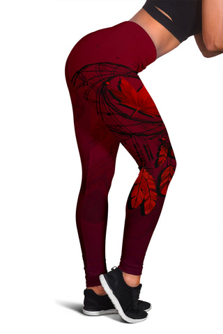 Image of Canada Maple Leaf Dreamcatcher Women's Leggings | Love the World