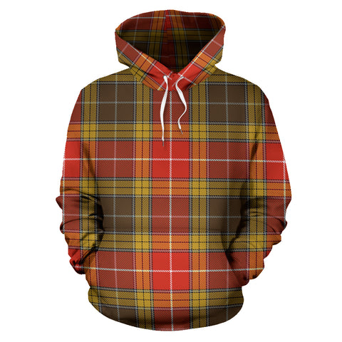 Image of Buchanan Old Set Weathered Tartan Hoodie HJ4