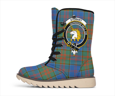 Image of Stewart of Appin Ancient Tartan Clan Crest Polar Boots