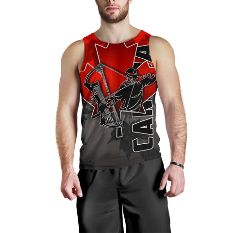 Canada Men's Tank Top Archery With Maple Leaf