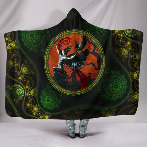 Celtic Economy Hooded Blanket Morrígan Edition - Goddess of Fate - Morrígan - BN21