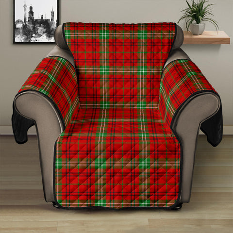 Image of Morrison Red Modern Tartan Recliner Sofa Protector | Tartan Home Set