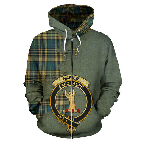 Napier Ancient  Royal All Over Hoodie (Zip)