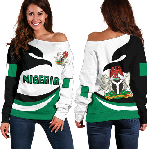 Nigeria Off Shoulder Sweater Proud Version | 1sttheworld