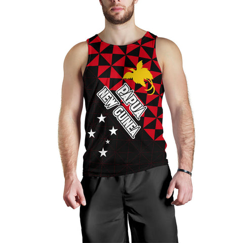 Papua New Guinea Polynesian Men's Tank Top Coat Of Arms