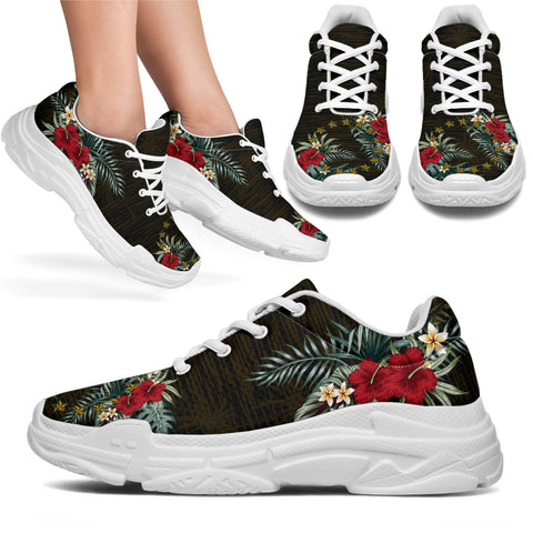 Cook Islands 2 Hibiscus (Men - Women) Chunky Sneakers A7