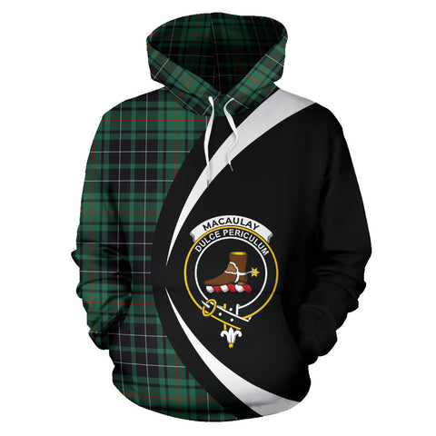 (Custom your text) MacAulay Hunting Ancient Tartan Circle Hoodie