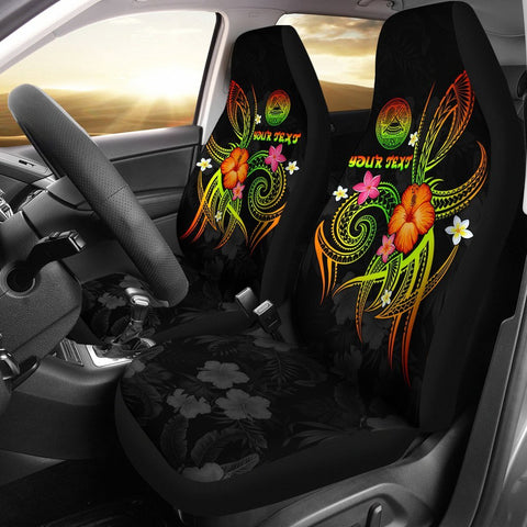 Image of American Samoa Polynesian Personalised Car Seat Covers - Legend of American Samoa (Reggae)