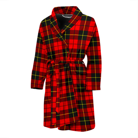 Image of Wallace Hunting - Red Tartan Men's Bath Robe