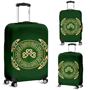 Ireland Luggage Cover Shamrock and Celtic Corner TH6