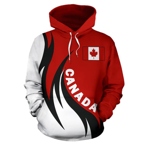 Image of Canada Hoodie Coat Of Arms Fire Style