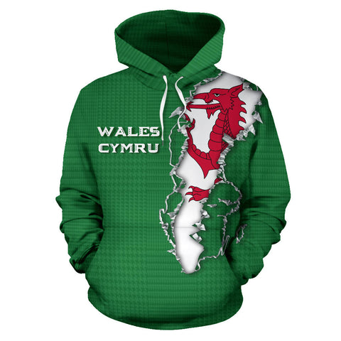 Wales Forever Hoodie - Front for Men and Womens