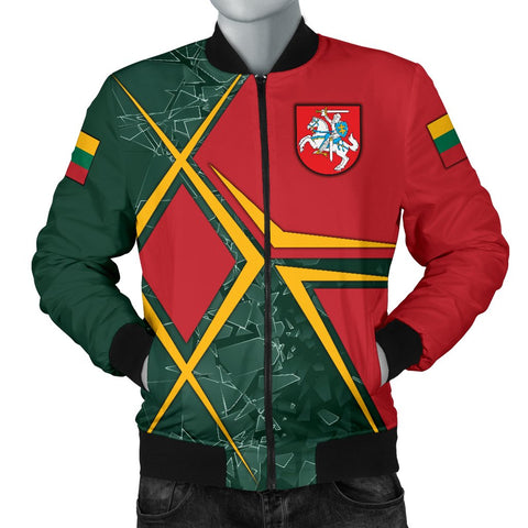 Image of Lithuania Men's Bomber Jacket - Lithuania Legend