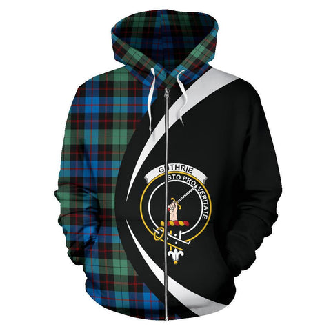 Guthrie Ancient Tartan Circle Zip Hoodie