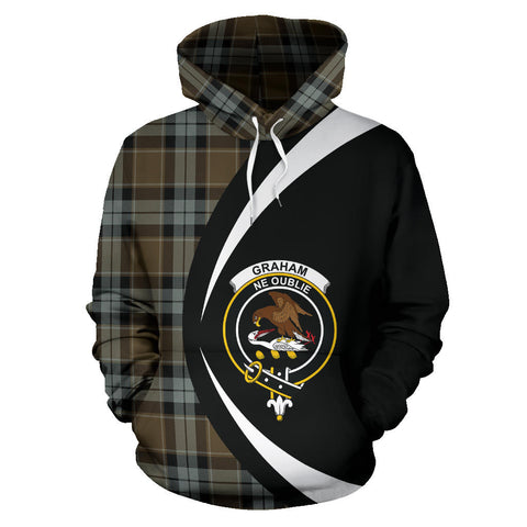 (Custom your text) Graham of Menteith Weathered Tartan Circle Hoodie