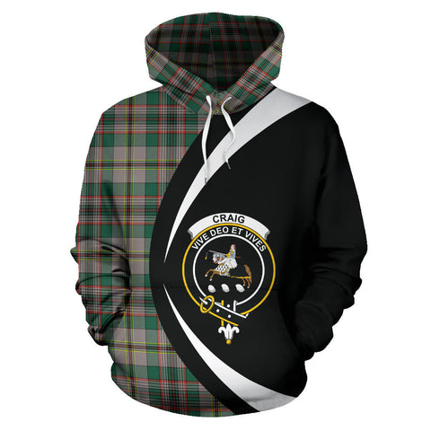 (Custom your text) Craig Ancient Tartan Circle Hoodie