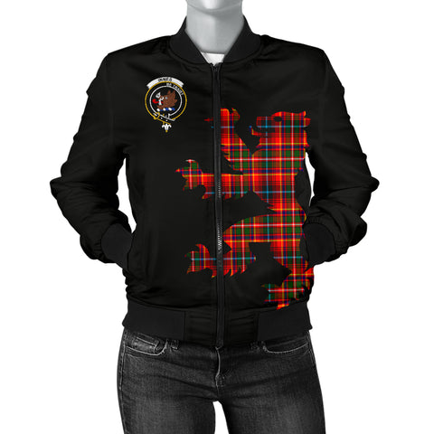 Image of Innes Tartan Lion And Thistle Bomber Jacket for Women