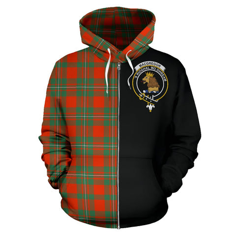 Image of MacGregor Ancient Tartan Hoodie Half Of Me | 1sttheworld.com