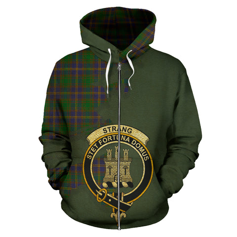 Strange of Balkaskie  Royal All Over Hoodie (Zip)