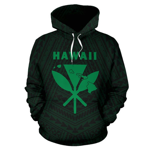 Image of Hawaii Kanaka Polynesian Hoodie Green - AH - J71