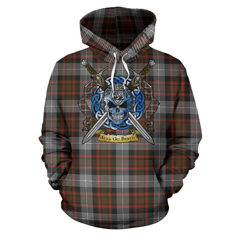 MacRae Hunting Weathered Tartan Hoodie Celtic Scottish Warrior A79 | Over 500 Tartans | Clothing | Apaprel