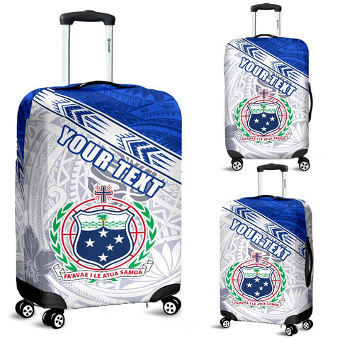 (Custom Personalised) Samoa Rugby Luggage Covers Spirit Manu Samoa White | 1sttheworld