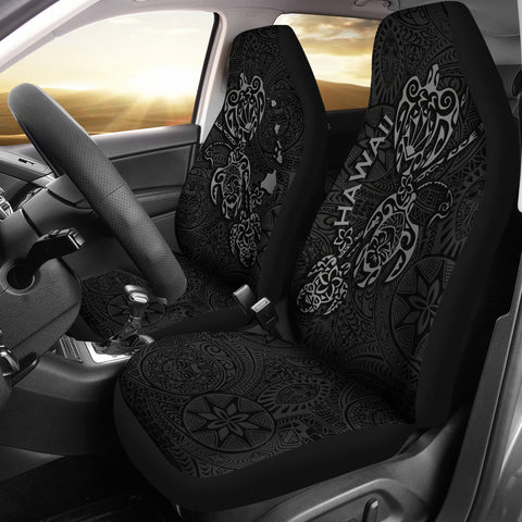 Hawaii Family Turtles Map Polynesian Car Seat Covers - Grey 3