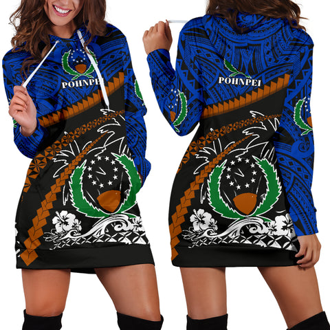 Image of Pohnpei Women Hoodie Dress - Road to Hometown K4
