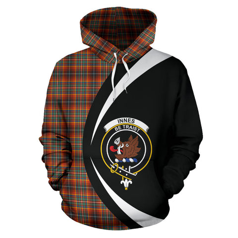 (Custom your text) Innes Ancient Tartan Circle Hoodie