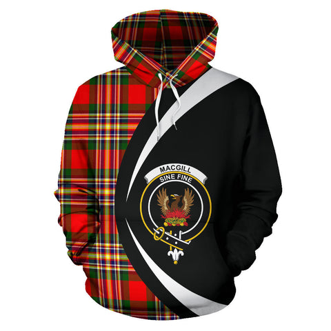 (Custom your text) MacGill Modern Tartan Circle Hoodie