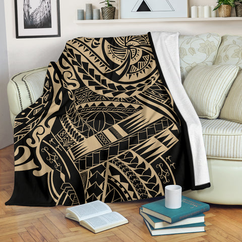 Image of Polynesian Tattoo Style Blanket 2 A7