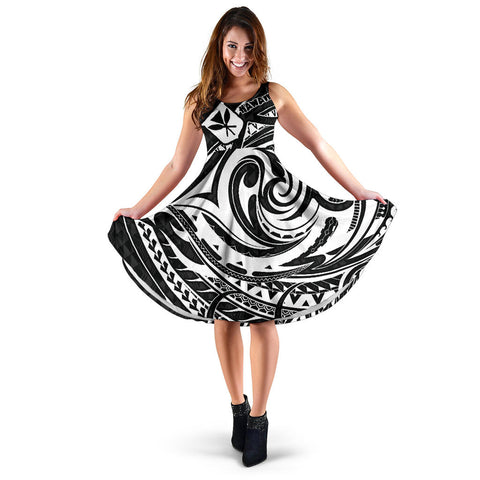 Hawaiian Midi Dress - Special White | Clothing | Love The World