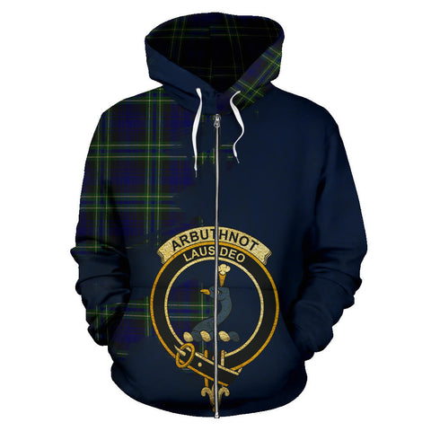 Arbuthnot Modern  Royal All Over Hoodie (Zip)