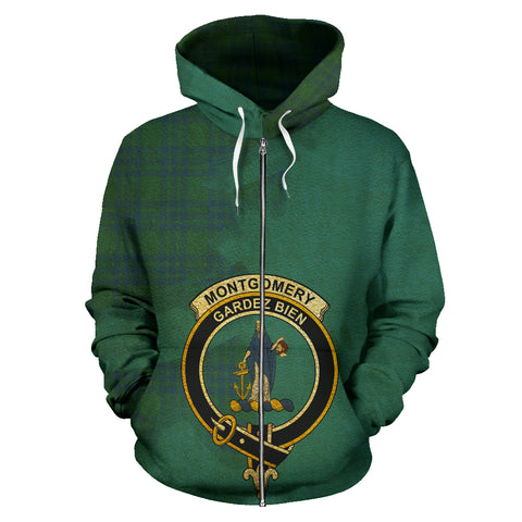 Montgomery Ancient  Royal All Over Hoodie (Zip)