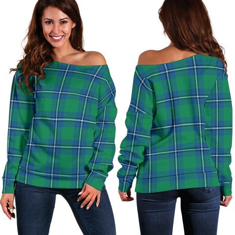 Tartan Womens Off Shoulder Sweater - Irvine Ancient - Bn | 1sttheworld.com