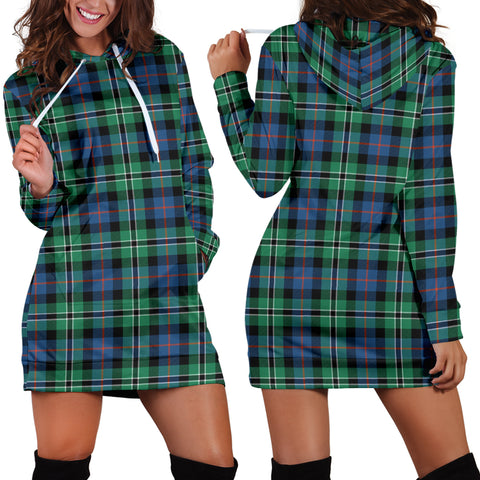 Rose Hunting Ancient Tartan Hoodie Dress HJ4 |Women's Clothing| 1sttheworld